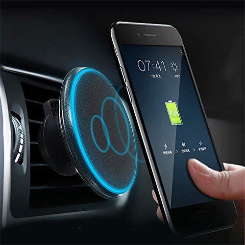 Costume Qi Wireless Auto Ladegerät Magnetische Air Vent Halterung Lade Pad Halter Für iPhone XS Max/XS / XR (Schwarz) (Iphone 4s-handy-ladegerät)