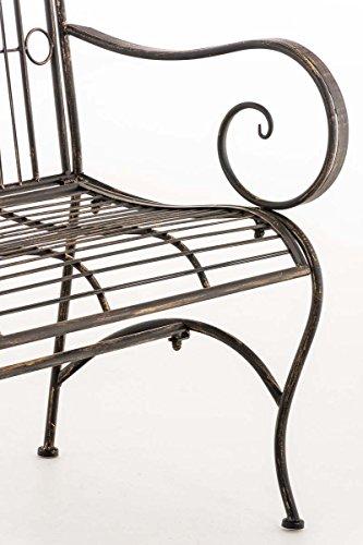 CLP Metall Gartenbank PURUSHA, 2-Sitzer, Landhaus-Stil, Eisen lackiert, Design nostalgisch Bronze - 8
