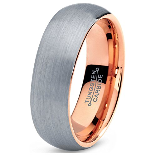 tungsten-wedding-band-ring-5mm-7mm-for-men-women-comfort-fit-18k-rose-gold-plated-domed-brushed-free