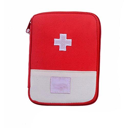 Praktische Medizinische Aufbewahrungstasche Camping Überleben Tragbare Erste Hilfe Kit Bag Fall - Im Rot-gewebe Freien