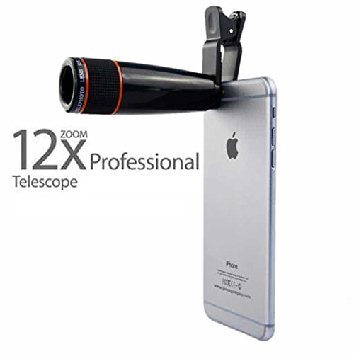 Universal 12X Zoom Telescope Mobile Camera Lens By Meya Happy™ | Convert Your Phone Into DSLR Like Camera And Bring Everything Closer (12X)