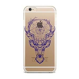 Qrioh Printed Designer Back Case Cover for iPhone 6s - Blue Deer Head