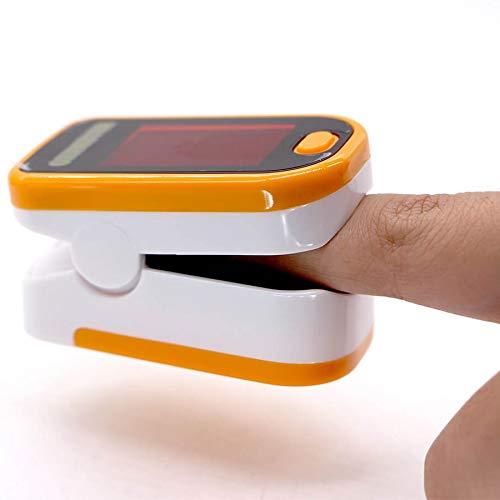 Sauerstoffmessgerät für Fingerspitzen SPO2 OLED Pulsmesser Pulsmesser Herzfrequenz Monitor Oximeter Lanyard inklusive