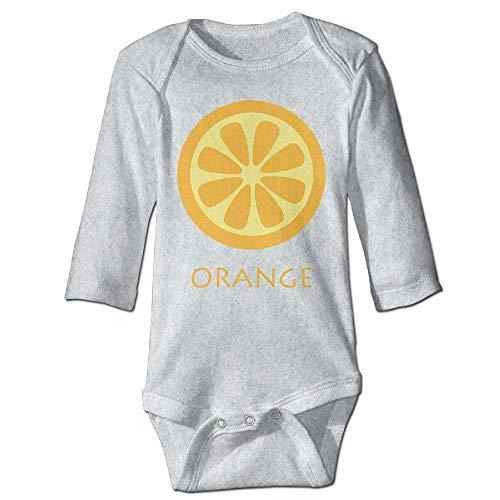 Unisex Infant Bodysuits Orange Baby Babysuit Long Sleeve Jumpsuit Sunsuit Outfit Ash