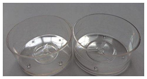 50 X vide en polycarbonate transparent photophores... 18 mm empilable... (38 mm X 18 mm)
