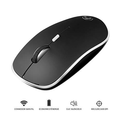 Apedra Maus Kabellose, 2.4G Mute-Maus Schnurlos Wireless Kabellos Optische Mäuse mit USB Nano Empfänger Silent 4 Tasten Für PC Laptop iMac MacBook Pro Office Home -