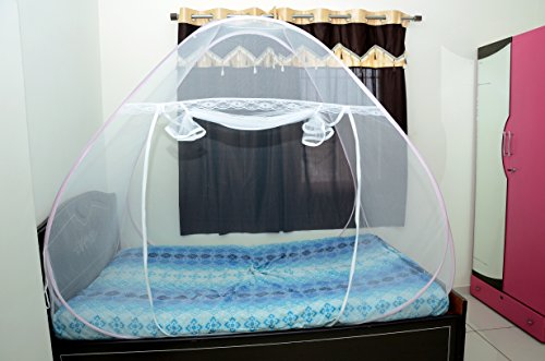 ROYAL Foldable Mosquito Net Single Bed- Pink
