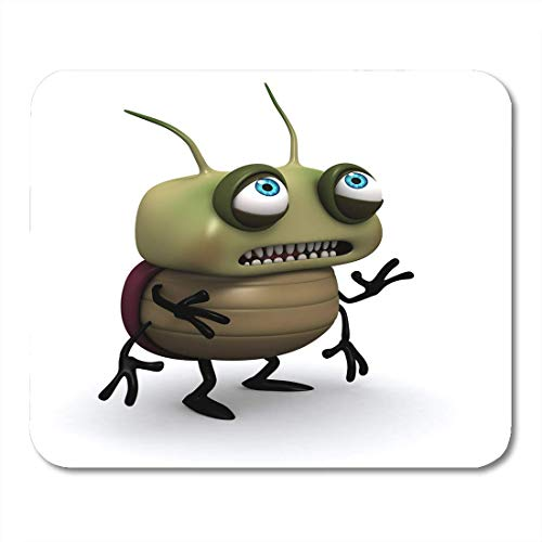 Mouse Pads Aggression Cartoon Sad Green Bug Beetle -