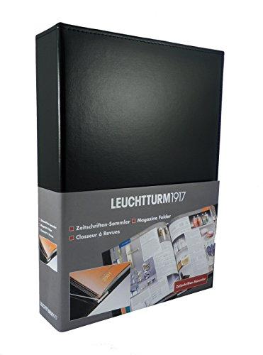 Leuchtturm1917 337206 Zeitschriftensammler Stabsammler (für bis zu 12 Zeitschriften, 225 x 315 x 60 mm) schwarz