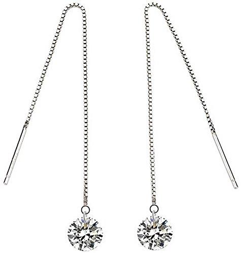 mujeres-cristal-s-s-zona-larga-joyfulshine-staple-threader-pendientes-de-plata-925-color-blanco