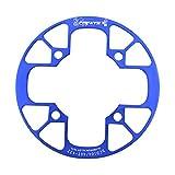 SET-SAIL Setsail Fahrrad Mountainbike-Kettenrad Farradtasche Kettenrad-Abdeckung Zäh Kettenschutz Kettenradgarnitur, Singlespeed, Festgetriebe (Blau)