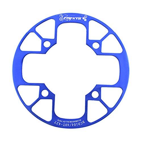 SET-SAIL Setsail Kettenschutz Zähne Ausführung Kettenrad Abdeckung Fahrradkette Fahrrad Antrieb Kurbel Kettenradgarnitur (Blau) -