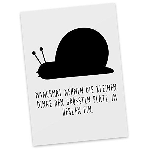 mr-mrs-panda-postkarte-schnecke-mit-spruch-100-handmade-handbedruckt-schnecke-postkarte-postkarten-e