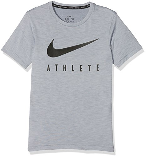 Nike B NK Dry Top SS Hyper Gfx T-shirt für grau