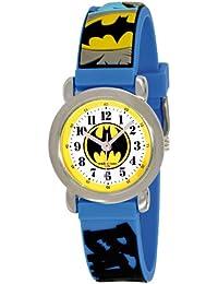 Batman BT53100-913 - Reloj analógico de cuarzo para niño, correa de caucho multicolor