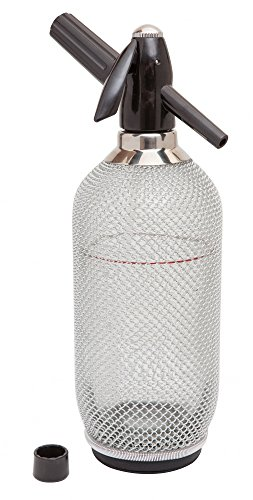 Classic Glass Soda Syphon with Aluminium Mesh 1 litre