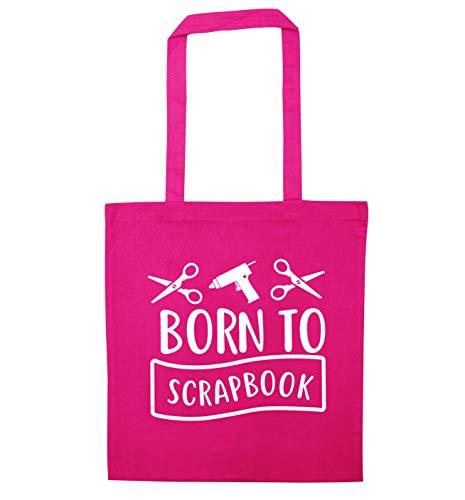 Flox Creative Tote Bag Born to Scrapbook Pink -