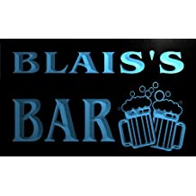 w005798-b BLAIS'S Nom Accueil Bar Pub Beer Mugs Cheers Neon Sign Biere Enseigne Lumineuse
