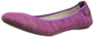 Hush Puppies Chaste, Women's Ballet Flats, Dark Violet Linen, 4 UK