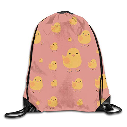 Drawstring Bag Chicks Rucksack for Gym Hiking Travel Hot - Violin Chick