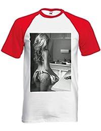 Sexy Kitchen Girl Cooking Funny Novelty Black/White Men Women Unisex Short Sleeve Baseball T Shirt