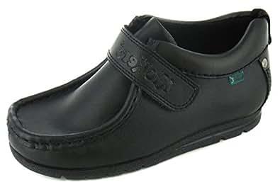 Boys Leather Velcro Fastening Shoes - UK SIZE 12