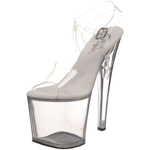 Pleaser Taboo 708, Des sandales femme Transparent (Clr/Clr)