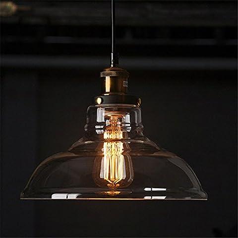 CAC Paese americano Retro Vintage paralume in vetro ciondolo di luce della lampada in vetro per bar Negozio di stoffa Ciondolo lampada lustri liquidi infissi