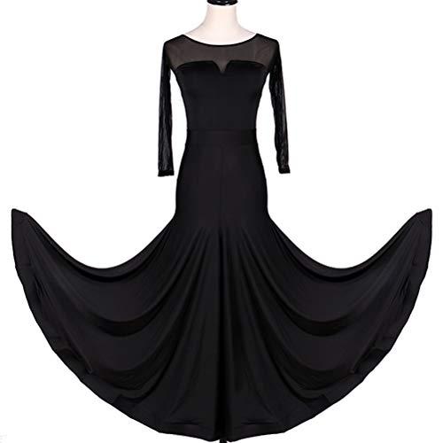 HAOBAO Professionel National Standard Tanz Abnutzungs Einfach Klassisch Ballsaaltanz Performance Kleider Elastisches Kostüm, M