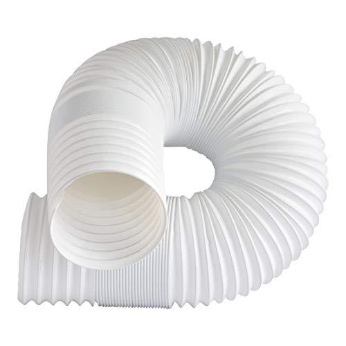Dalridge Tragbarer AC Auspuffschlauch, 12,7 cm breit, Weiß 59 Inch Long weiß