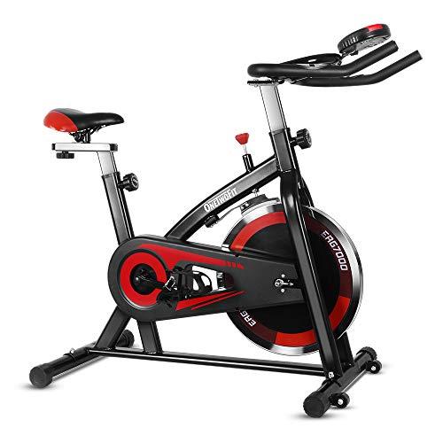 ONETWOFIT Heimtrainer Spinning Bike Indoor Studio Fahrrad Trainer Bike Fitness Cycling mit verstellbarem Lenker & Sattel mit LED-Anzeige für Gym oder Kardiotraining zu Hause OT148