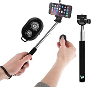 Extendable Self Portrait Selfie Handheld Stick Monopod + Wireless Bluetooth Remote Control For Panasonic Eluga Icon