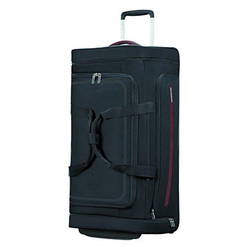 American Tourister Airbeat - Wheeled Duffle Bag 76/28 Bolsa de viaje, 76 cm, 86 liters, Negro (Universe Black)