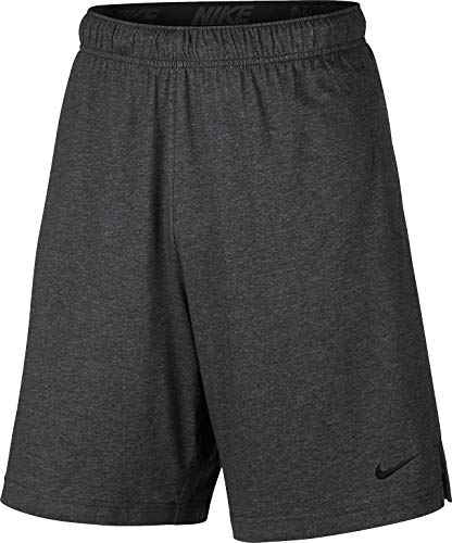 Nike Herren M NK Short DRI-FIT Cotton Sport, Charcoal Heathr/Black, 2XL -