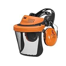 3M PELTOR 7000103790 G500 Combinaison Forestière avec Coiffe Orange et Visière 3M V5C et Coquilles Auditives