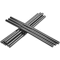 QLOUNI 10pcs Pegamento termofusible - Palo de Pegamento Adhesivo de Fusión en Caliente 11 * 270 mm (Negro)