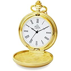 Irish Penny Pocket Watch in Gold Style with Chain