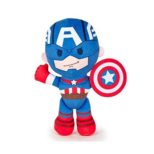 The avengers - marvel - peluche captain america 21cm qualità super soft