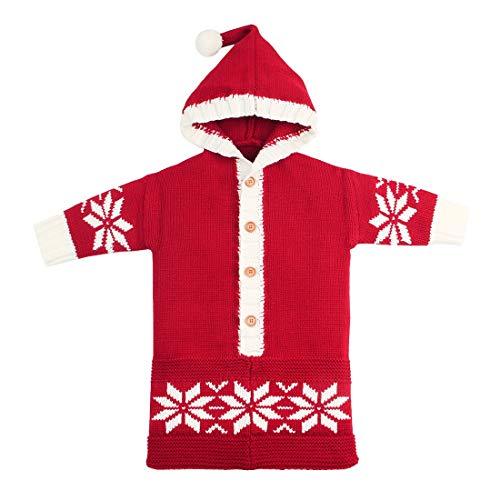 Yeying123 Neugeborene Schneeflocke Einfarbig Schlafsack Kuscheldecke Baby Niedlichen Schlafsack Im Freien Winddicht,Red