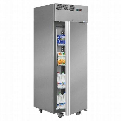 Interlevin Italia Range AF07TN Solide Tür Chiller und Fleisch Schrank Gekühlt Lagerung mit Edelstahl 2030(H)x710(B)x800(D) 700 Liter 3 Regale -2 Jahr Teile Garantie Inklusive (Chiller Tür Display)