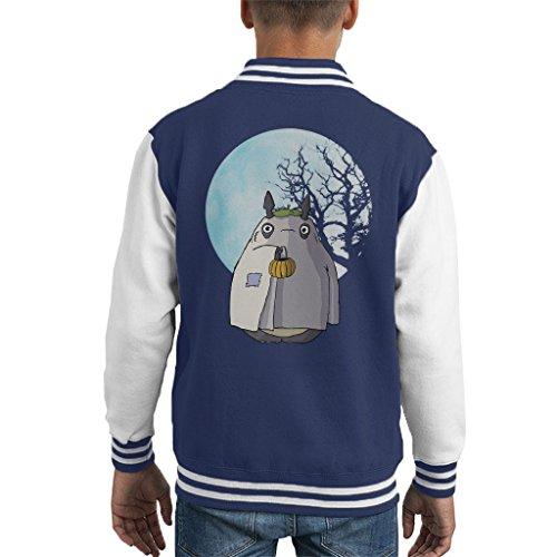 My Neighbour Totoro Halloween Trick Or Treat Ghost Kid's Varsity Jacket