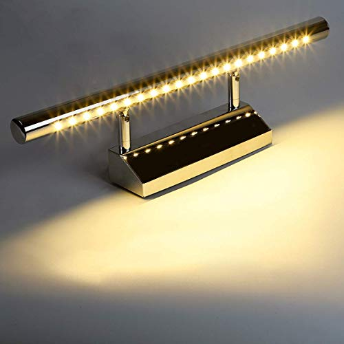 5W 5050SMD 40cm mit Schalter Spiegellampe Wandleuchte Schrankleuchte aus Edelstahl Bad Lampe Leuchte Warmweiß