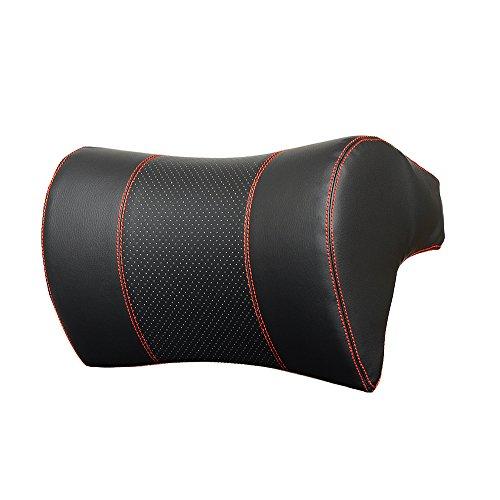 Preisvergleich Produktbild Tofern Memory-Schaum Autokissen Super Leder Verstellbar Nackenstützkissen Reisekissen Kopfkissen Orthopädische Kissen - comfort - schwarz und redline