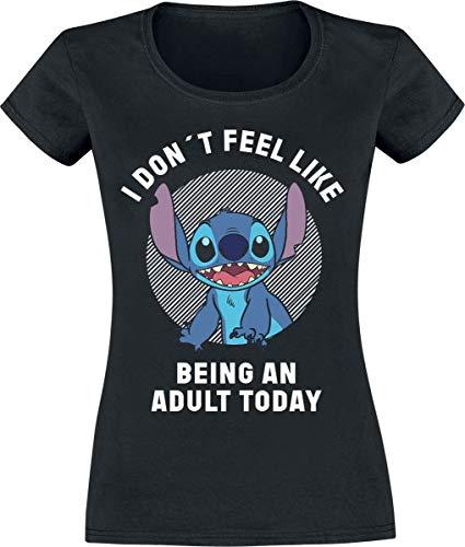 Lilo & Stitch Adult T-Shirt Femme Noir L