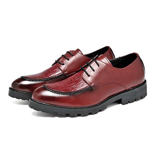 Der neue britischer Stil Schuh Bullock geschnitzt männliche Friseure Herren-Freizeitschuhe Gezeiten Schuhe dicke Kruste wine red