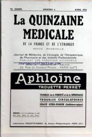 quinzaine-medicale-la-no-4-du-01-04-1953-sommaire-la-place-de-lisoniazide-dans-le-traitement-de-la-t