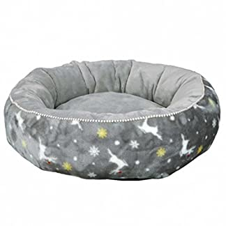 trixie xmas rudolf dog bed diameter 50 cm grey Trixie Xmas Rudolf Dog Bed Diameter 50 cm Grey 41Piv6lFIzL