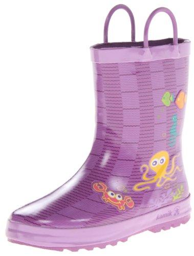 Kamik AHOY Unisex-Kinder Halbschaft Gummistiefel Violett