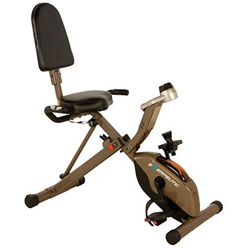 Exerpeutic GOLD 525XLR Klappbarer Liege-Heimtrainer/Recumbent Bike mit 181kg maximalem Benutzergewicht