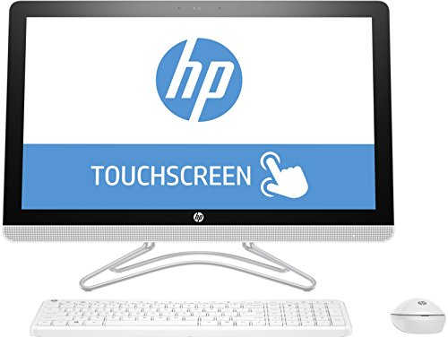 HP 24-e010ns - Ordenador de sobremesa Todo en Uno DE 23.8' FullHD IPS (Intel Core i3-7100U, 8 GB RAM, 1 TB HDD, Intel HD Graphics 630, Windows 10); Blanco - Teclado QWERTY Español